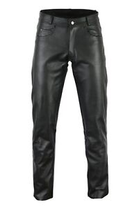 BUSA Classic Harley Motorcycle 1.3 Thick Leather Supple 5 Pocket Bikers Jeans