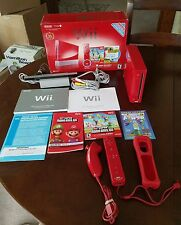 Nintendo Wii Red 25th Anniversary Edition with box