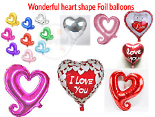 HEART SHAPE ROMANTIC GIFTS IDEAS HER- HIS LOVE HEART CUTE BEARS FOIL BALLOON