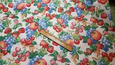 Joan Kessler Concord 100% Cotton Fabric Cherries Red Green Fruits By The Piece