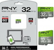 PNY U3 High Performance 32GB High Speed MicroSDXC Class 10 UHS-I up to 60MB/s