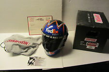 Denny Hamlin SIGNED FedEx Simpson Full Size Replica Helmet Global Authentics COA