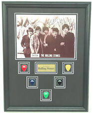 The Rolling Stones SIGNED framed photo w/ guitar picks