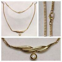 Bella Collar / Collar PIERRE LANG Y con piedra bañado en oro 46 cm