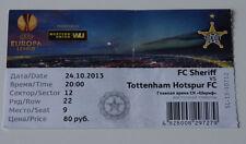 OLD TICKET EL Sheriff Tiraspol Moldova Tottenham Hotspur FC England