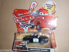Disney Pixar Cars Toon RESCUE SQUAD MATER Trooper with stripe grill