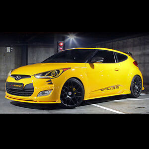 Side Lip Skirt UNPAINTED Left Right 2p for 2011 2017 Hyundai Veloster