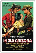In old Arizona Warner Baxter 1928 cult movie poster print
