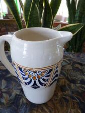 ancien pot a eau longchamp terre de feu  art déco ?? un beau vase de fleurs ????