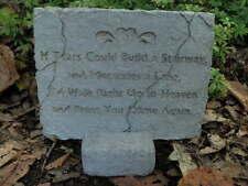 "6"" Tall Cement Plaque & Stand Pedestal Garden Concrete Statue"