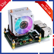 52Pi V2.0 Blink Blink ICE Tower CPU Cooling Fan for Raspberry Pi 4B/3B+/3B