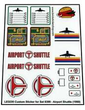 Lego® Custom Pre-Cut Transparent Sticker for Classic Town 6399 - Airport Shuttle