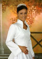 Brautjacke Bolero Jacke Hochzeit Gr.34 36 38 40 42 44 46 48 50 weiß ivory
