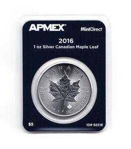 2016 1 oz Silver Canadian Maple Leaf .9999 APMEX MintDirect