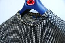 maglione maglia seta girocollo ettore bugatti maglioncino melange oro nero 50