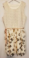 Gorgeous dress! Girls size 10-12, Copper Butterflies Accents On Lace