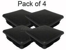 Black Plastic Square Inserts - Blanking Cap - 100mm x 100mm (Pack of 4)