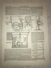 Generator Switch And Instrument Pillar: 1912 Engineering Magazine Print