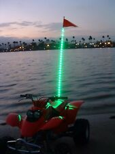 6' GREEN Tribal Whips NightStalker LED lighted whip atv utv sand dunes flag