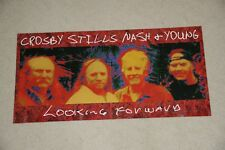 CROSBY STILLS NASH AND YOUNG 2 SIDED PROMOTIONAL POSTER FOR LOOKING FORWARD