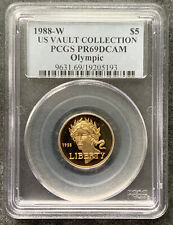 1988-W $5 PR69 DCAM PCGS Olympic Proof Modern Commemorative Gold Coin Beautiful