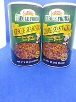 Tony Chachere's Original Creole Seasoning Shakers 6 oz each Exp  Lot of 2 G4