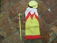 Vintage Barbie Clothing, Yellow Mod Dress with Hat & umbrella