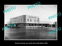 OLD LARGE HISTORIC PHOTO PRESTON VICTORIA VIEW OF THE GOWERVILLE HOTEL c1960