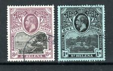 More details for st helena 1912-16 8d the wharf and 1s governmant house fu cds