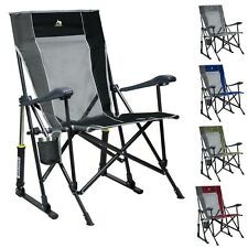 GCI Outdoor RoadTrip Rocker Chair Camping Folding Rocking Portable Cup Holder