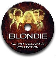 Blondie Rock Guitar Tab Tablature Song Book CD
