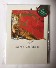 Christmas Kitten 'Mignon Ginger & CHAT BLANC 12 petites cartes de Noël PROMOTION