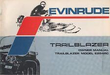 1973 EVINRUDE TRAILBLAZER E254RC SNOWMOBILE OWNERS MANUAL P/N 291294 (502)
