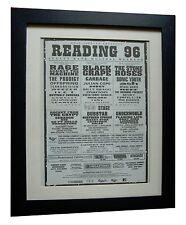READING FESTIVAL+ORIGINAL 1996+ROCK+POSTER+AD+FRAMED+FAST GLOBAL SHIP+TICKETS