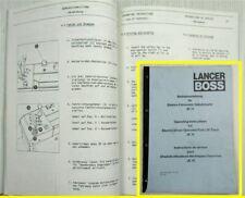 Lancer Boss JE10 Elektro-Stapler Bedienungsanleitung Betriebsanleitung 1/1986