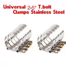 """10x 2.5"""" 64-74mm en acier inoxydable du four premium t-bolt turbo silicone tuyau pince clamps"""