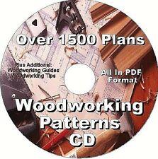 1500 Premium Woodworking Plans Cd Plus Bonus Shop Projects Cd.