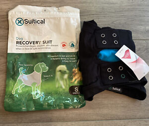 Suitical Recovery Suit for Dogs - Black - Size Small New- Open Box