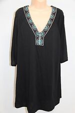 NWT Dotti Swimsuit Bikini Cover Up Dress Plus Size 3X Black
