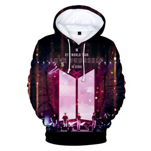 Unisexe Pop Fans Sweat à Capuche Imprimé 3D Kpop BTS Portrait Sweatshirts