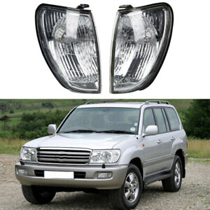 Fit Toyota Land Cruiser 100 Series 1998-2005 Pair Front Side Corner Lights Lamps