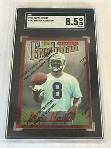 MARVIN HARRISON - SGC 8.5 - ROOKIE - 1996 Topps Finest #243 (With Coating) (HOF)
