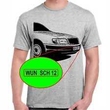 100 C4 T-Shirt mit oder ohne Wunschtext auf Kennzeichen
