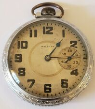 Antique Working Model 1908 WALTHAM Gents 17J Railroad RR 625 Pocket Watch 16s