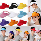 Sports Cap Colors Golf Tennis Beach New Adjustable Visor Sun Plain Hat Men Women