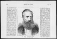 1879 - Antique Print PORTRAITS Graham Berry Prime Minister Victoria    (062)