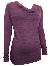 M&S LADIES WOMENS BURGUNDY Long Sleeve Cowl Neck Jumpers 10 12 14 16 18 20
