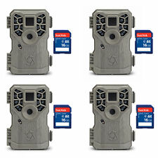 Stealth Cam 8MP 14 IR Emitter Game Trail Camera with Video and SD Card (4 Pack)