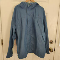 Ll Bean Trail Model Rain Jacket Blue Mens Size 2XL Full Zip Waterproof Hooded