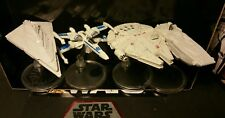 Star Wars Hot Wheels Lot of 4 M-Falcon, F.O Star Destroyer, R. Transport, X-Wing